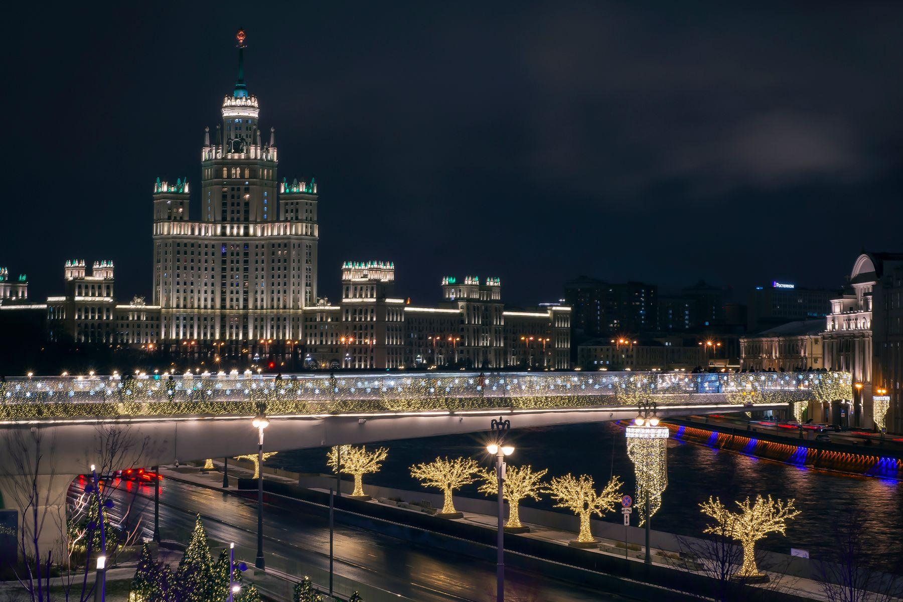 Праздничная иллюминация город праздник иллюминация