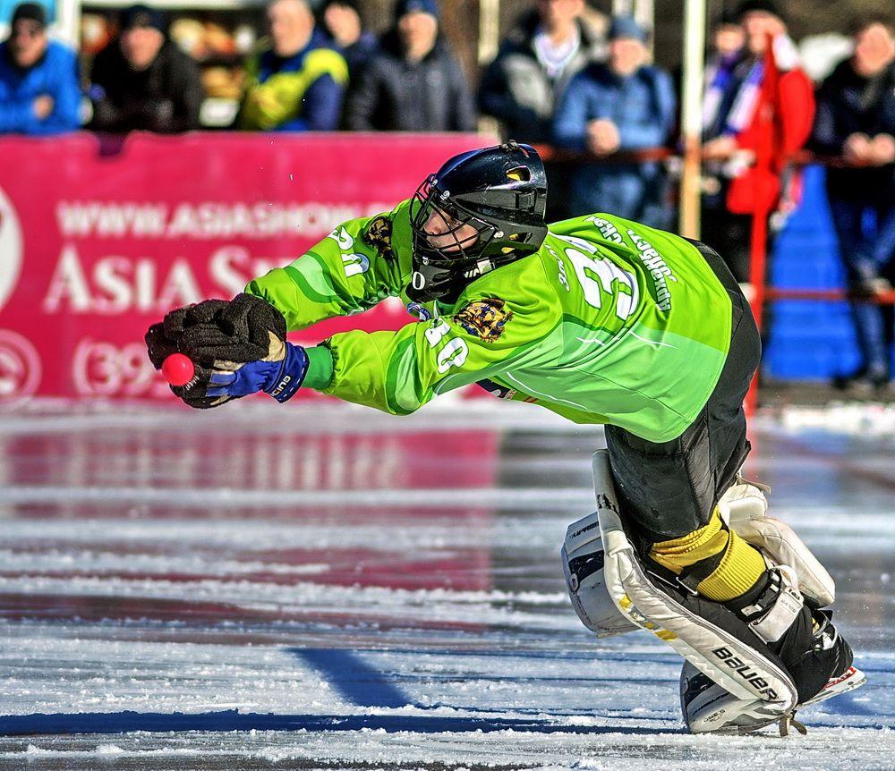 Вратарский сейв голевая ситуация лед хоккей стадион