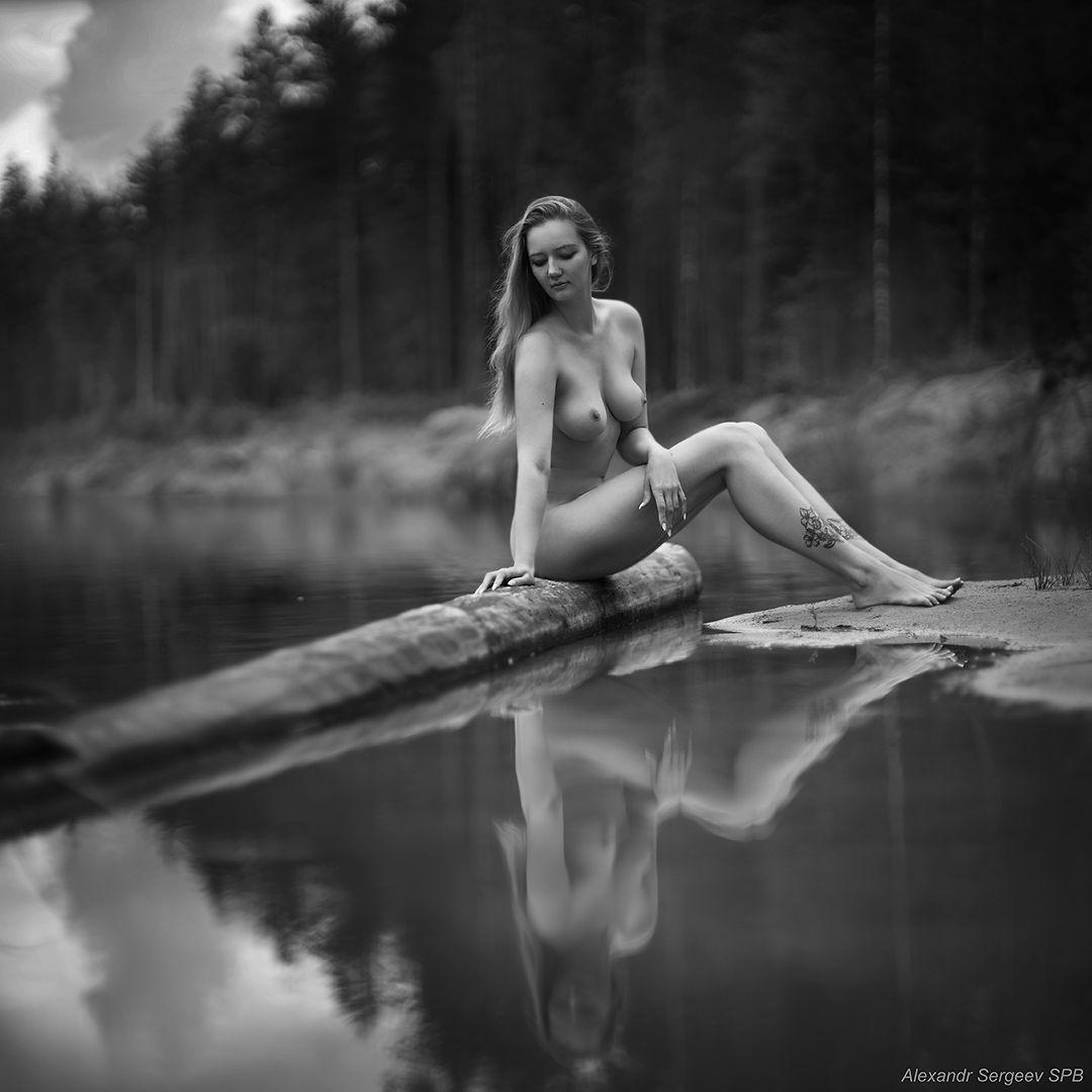 Гармония девушка обнажённая красота нежность гармония настроение природа единение