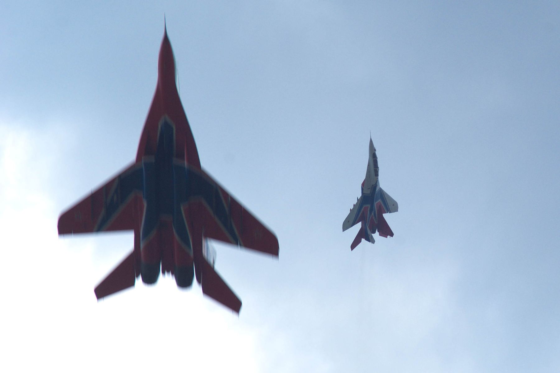 Дуэль-2 ВКС ВВС МиГ-29 Кубинка Стрижи авиация самолет эффект Прандтля-Глоерта