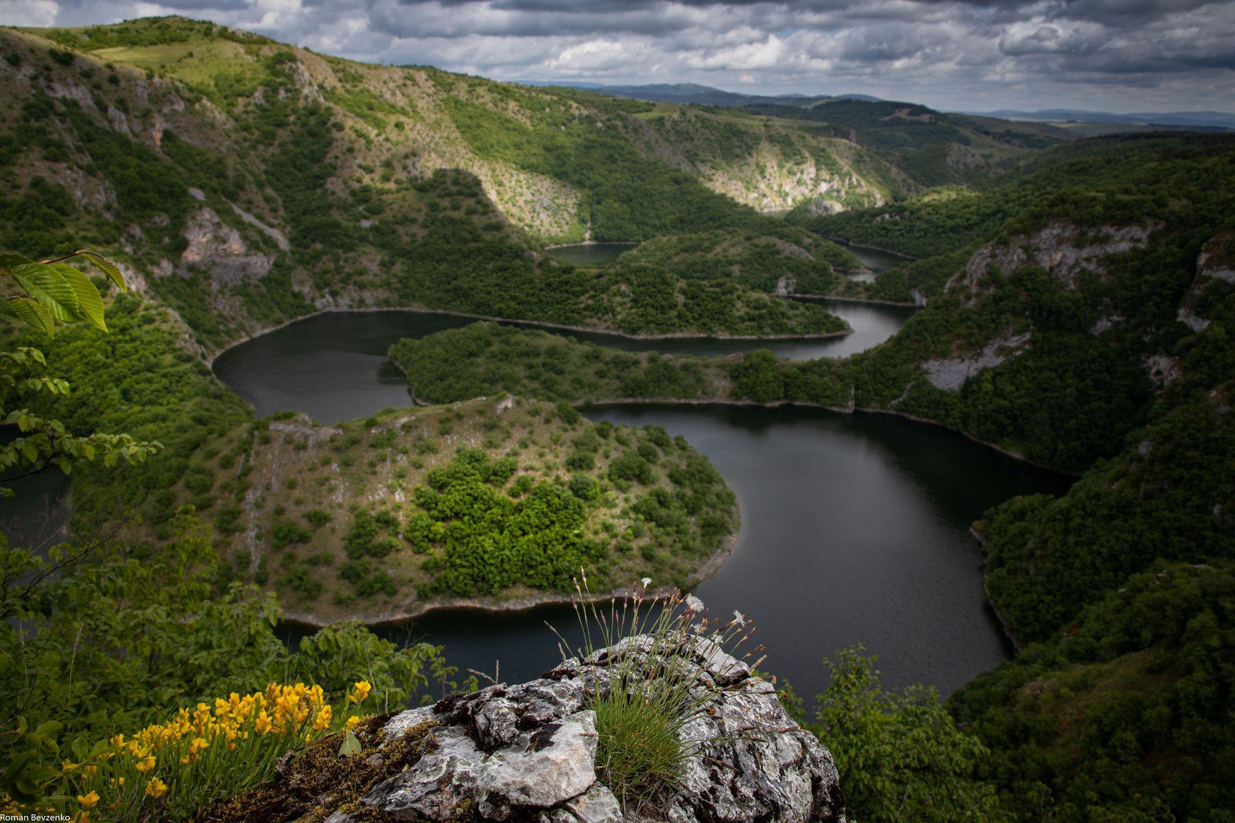 Каньон реки Увац, Сербия пейзаж природа каньон река сербия увац