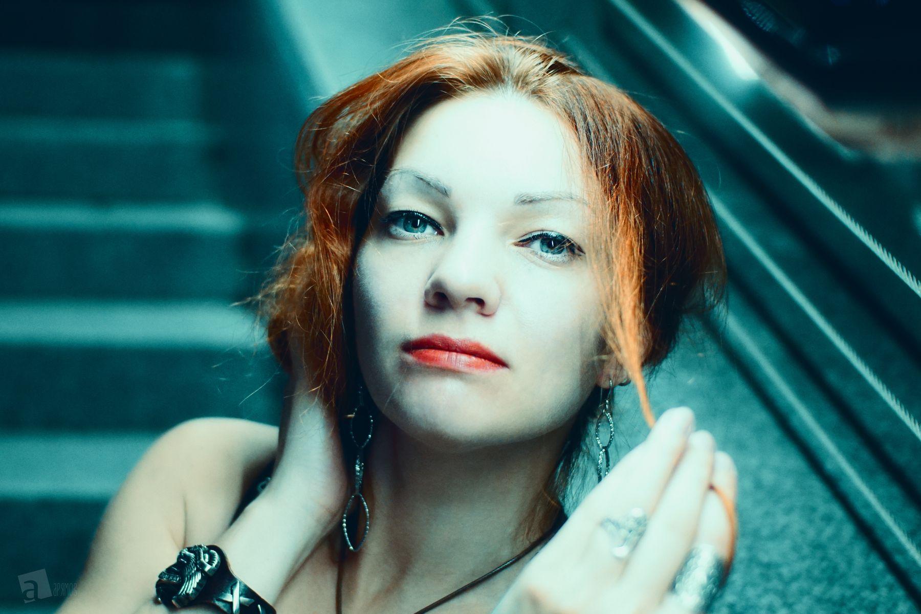 рыжий портрет ) девушка портрет глаза взгляд красотка красавица портретная фотография