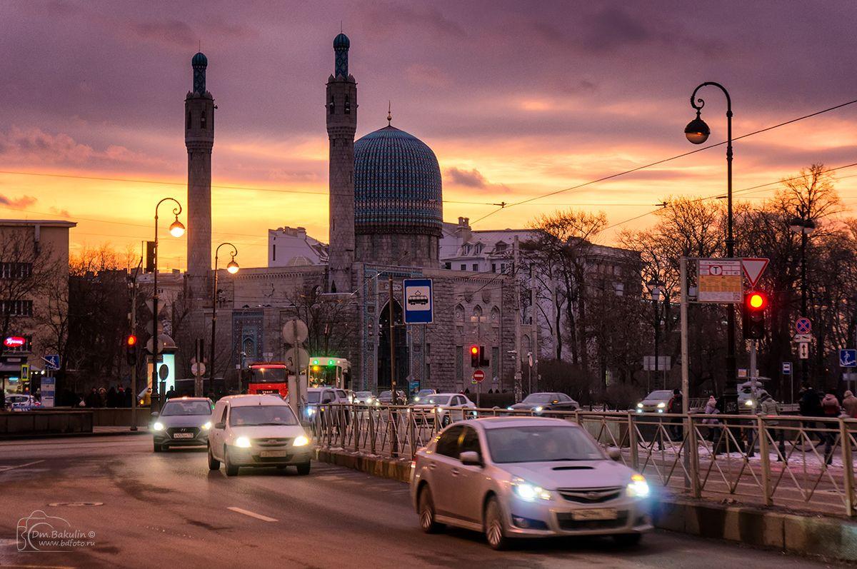 Рассвет на Кронверском проспекте город Петербург