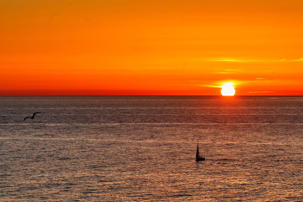 Закат Россия Сочи Черное море осень вечер закат солнца