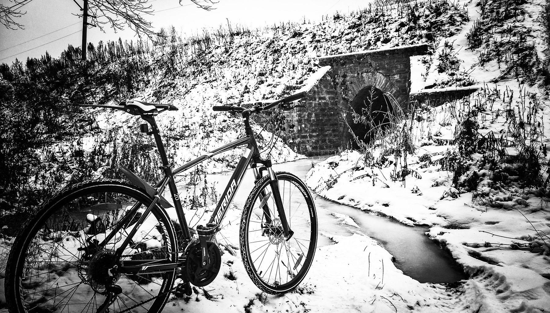 Вездеход вело снег зима мороз