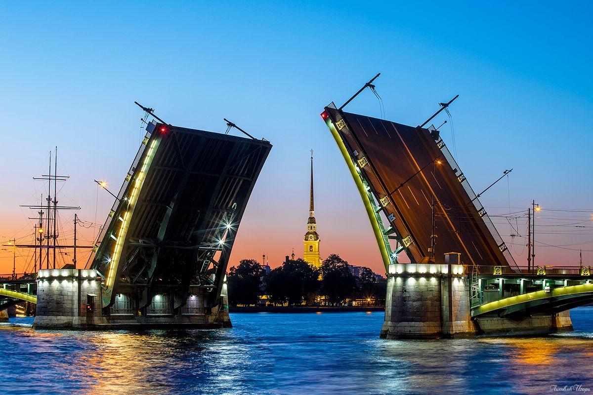 Санкт-петербург. Биржевой мост