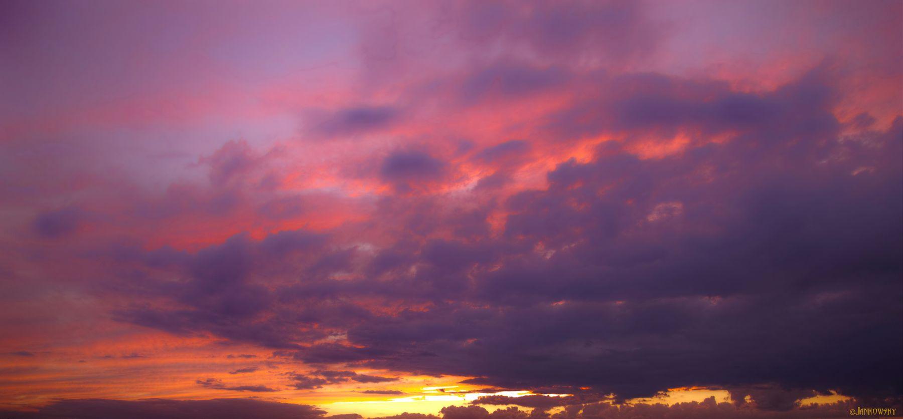 Foveon-безумия омского неба до отвисания челюсти Sigma SD1 Merrill Foveon панорама облаков закат омск розовый оранжевый