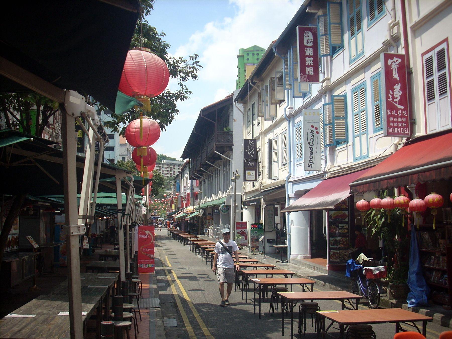 Ранное утро в Chinatown, Сингапур
