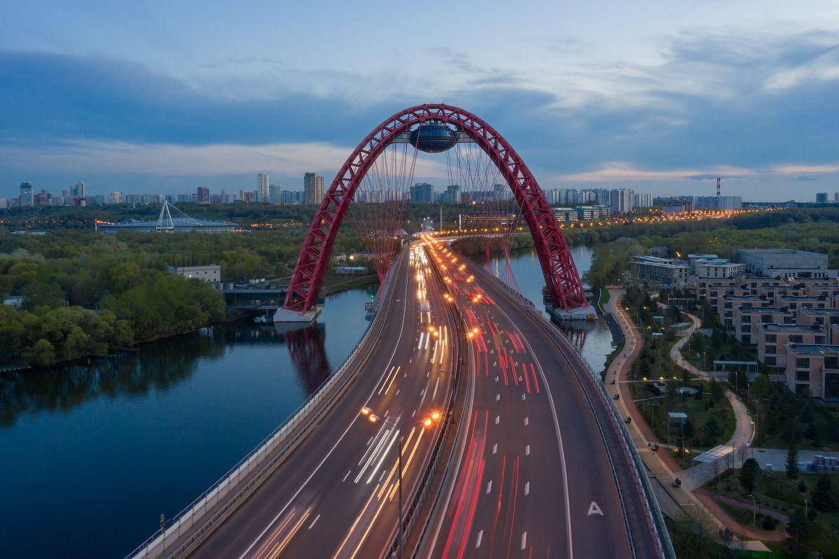 Живописный мост. Москва. Россия Живописный мост Москва Россия