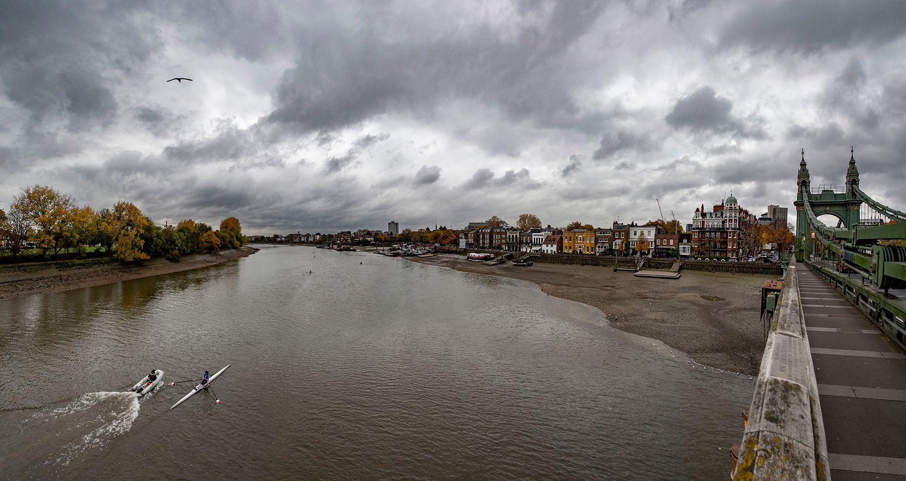 Вид с моста Хаммерсмит (3) Лондон Темза мост Хаммерсмит Hammersmith Bridge
