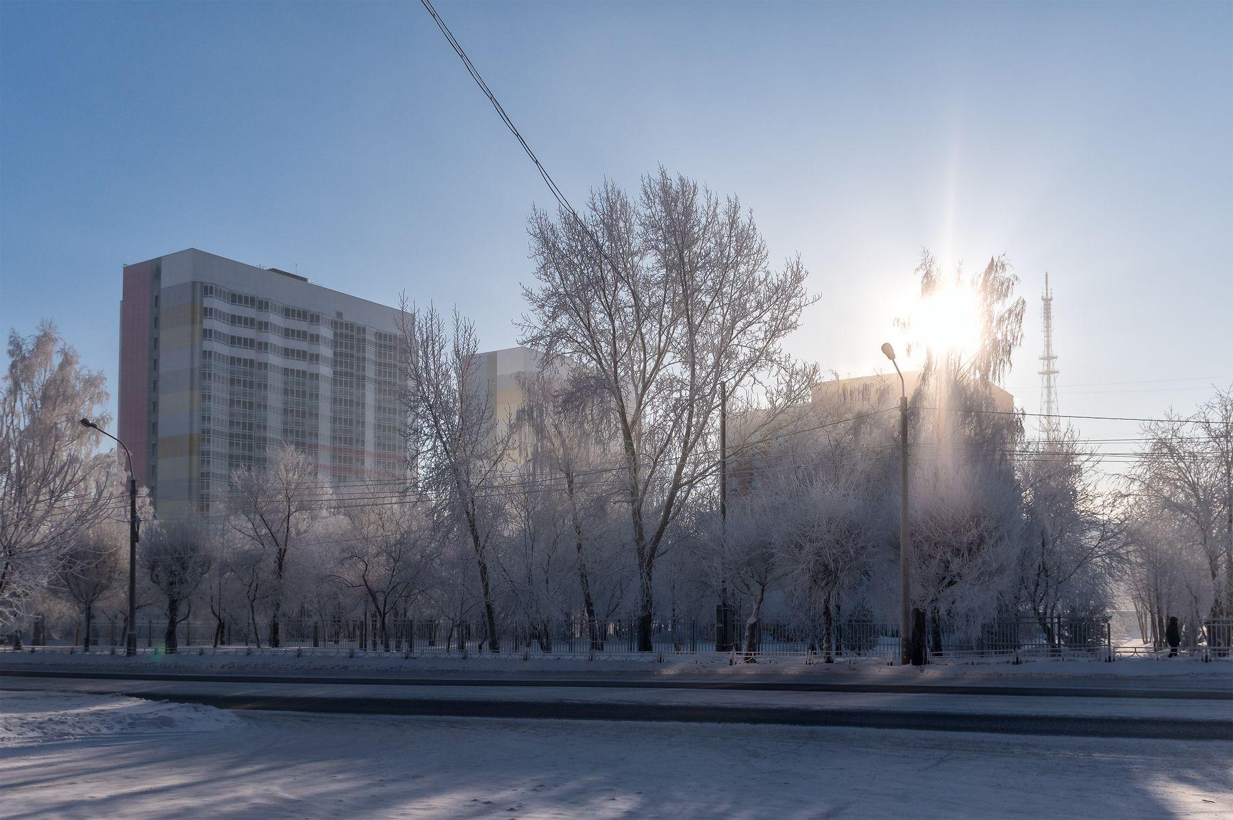 Cold Sun Красноярск зима иней
