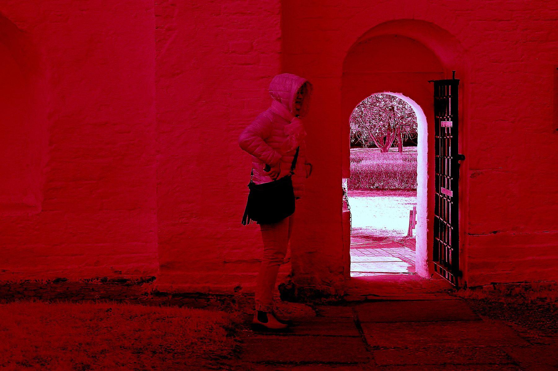 Замешкалась...Один лишь вход и тот не тот... Инфракрасная,чёрно-белая,монохромная, фотография. Hoya R72 Infrared Filter (infrared imaging) Инфракрасная чёрно-белая монохромная фотография Hoya R72 Infrared Filter infrared imaging