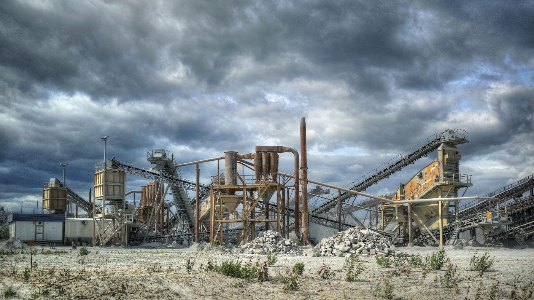 .. индастриал .. индастриал промышленность завод карьер добыча полезных ископаемых