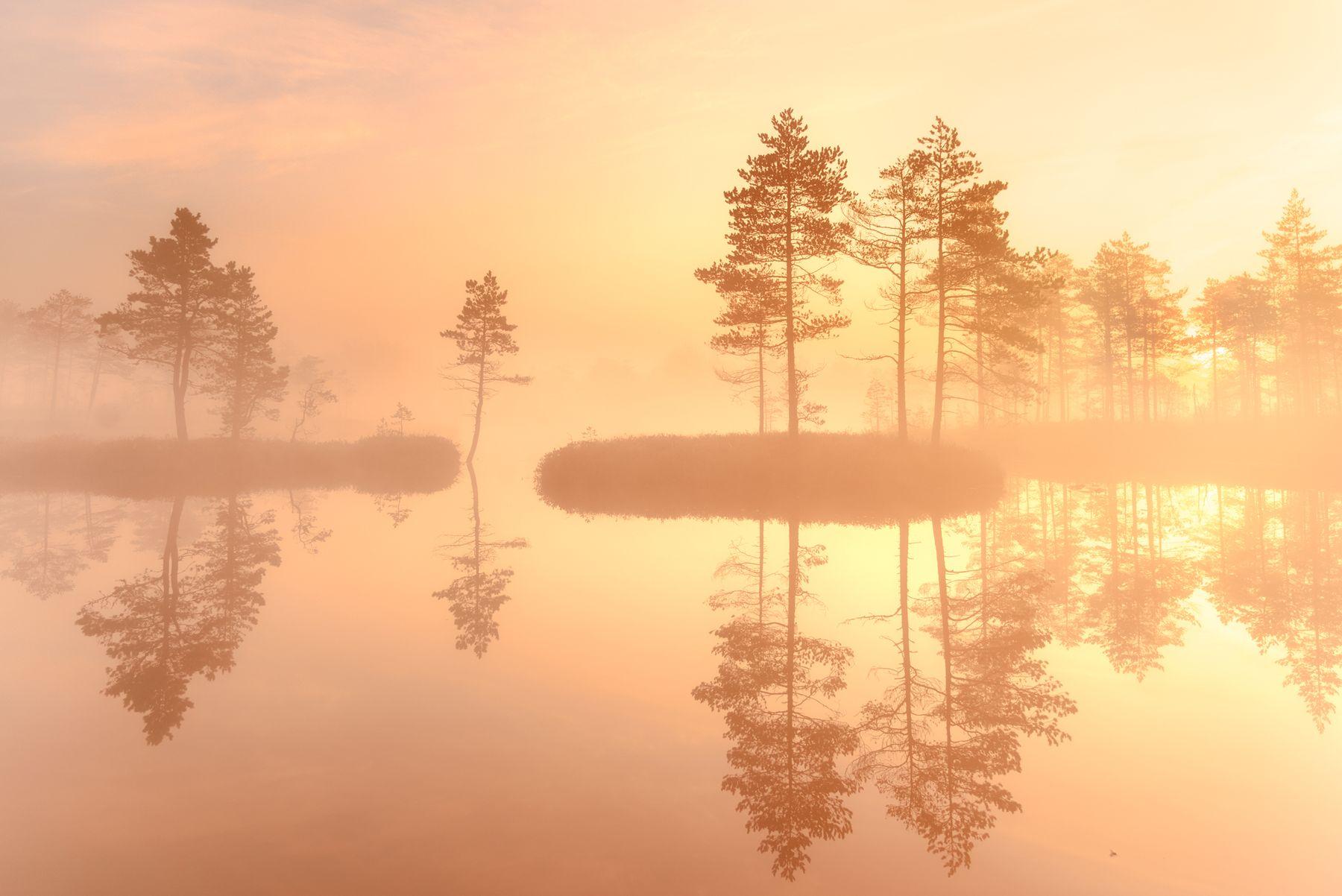 рассвет на озере...