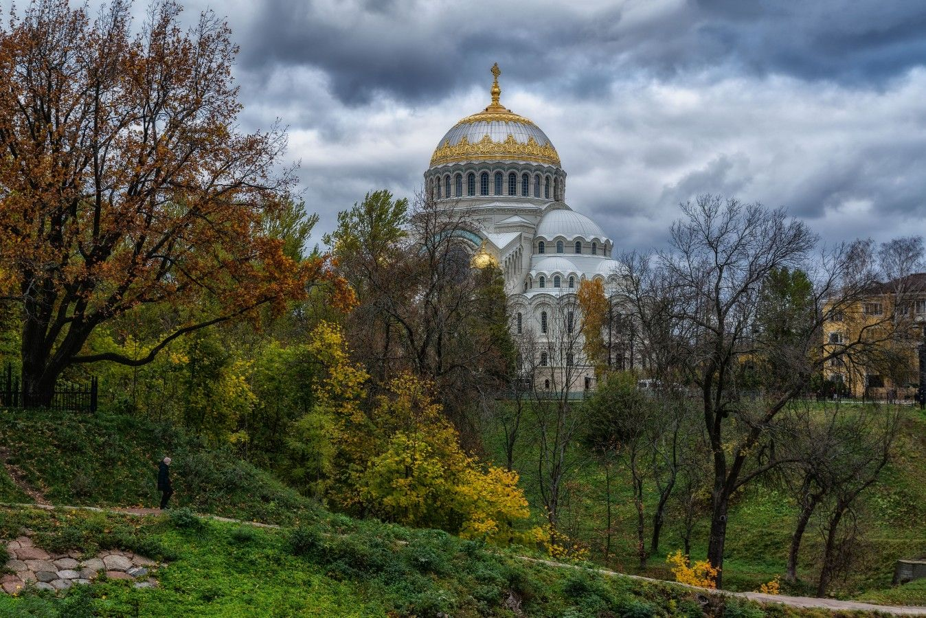 Кронштадтский Никольский Морской собор петербург кронштадт никольский собор осень