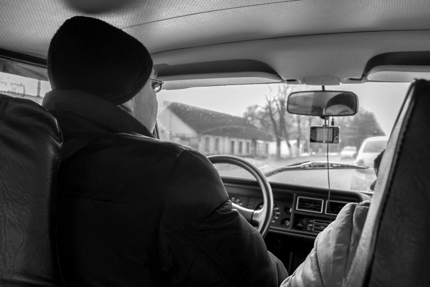 Шофер авто шофёр чб монохром водитель черно-белое