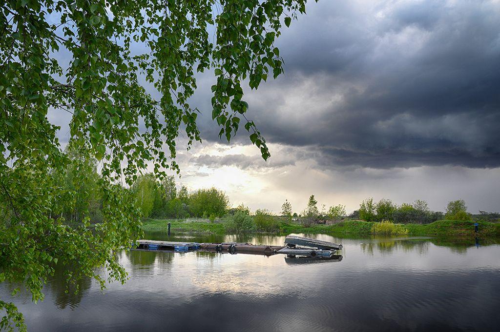 Весна на Волге Волга река весна половодье