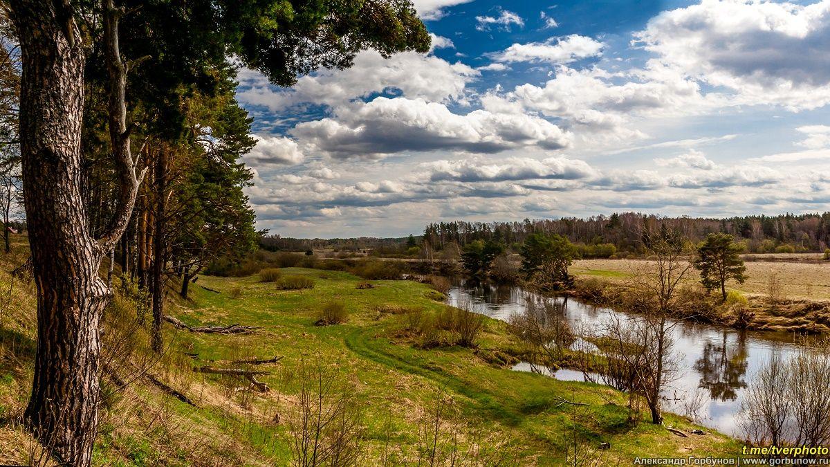 От крутого бережка весна тьма река