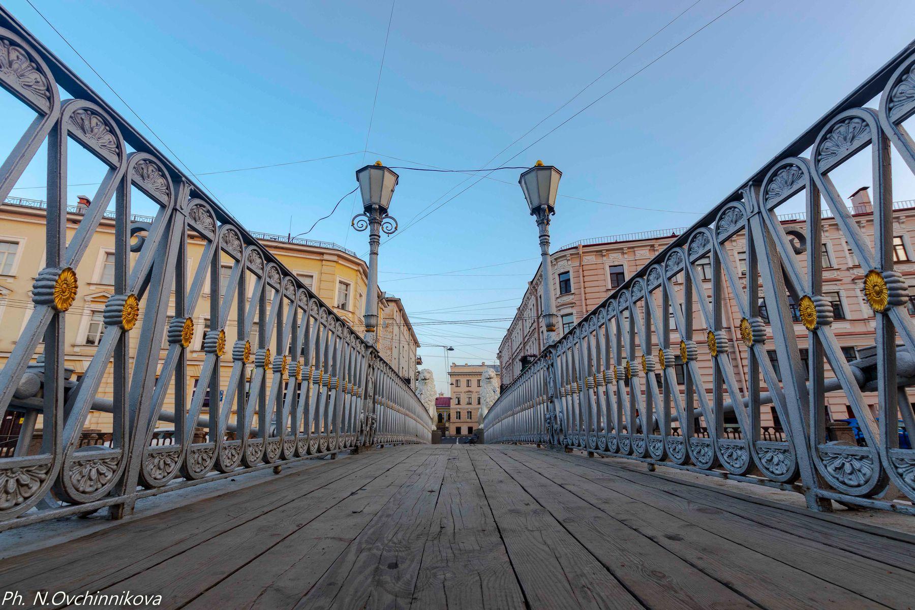 Львиный мост Санкт-Петербург Львиный мост мостик канал Грибоедова Питер центр львы фонари