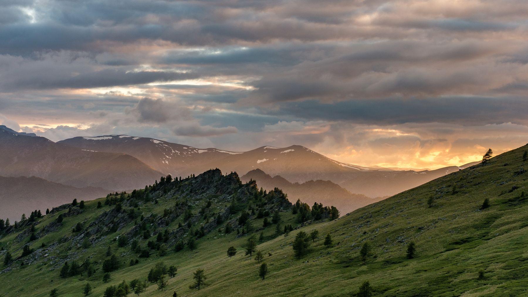 Вечереет. горы алтай горный аккем пейзаж природа россия ник васильев красота вечер закат