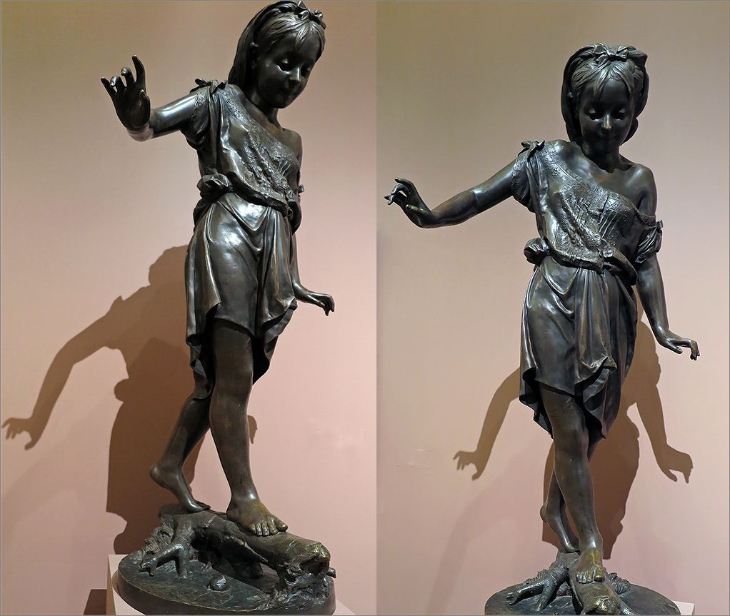 На выставке скульптура Резвушка девочка ракурсы