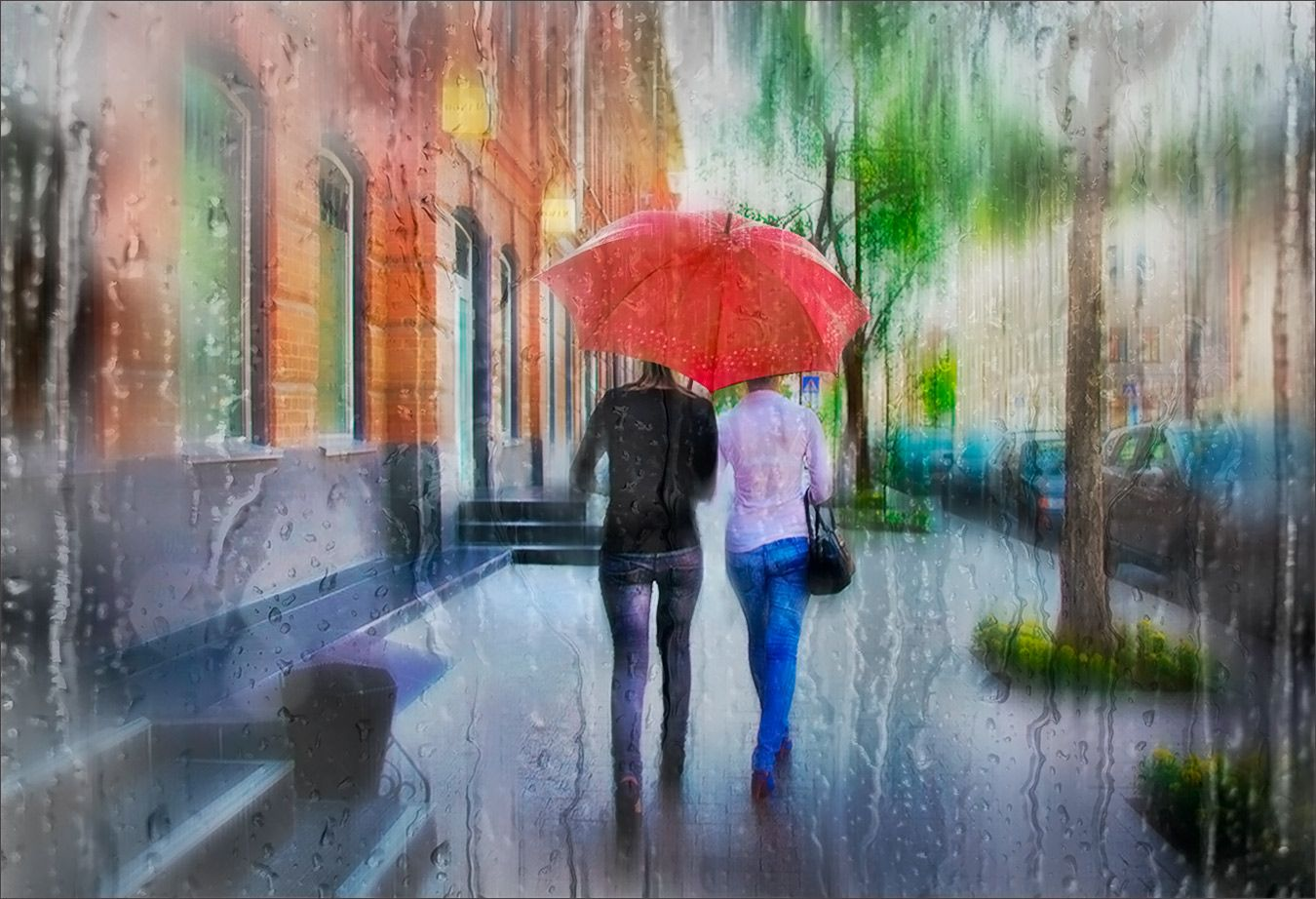 Подождём под дождём Прогулка под дождём