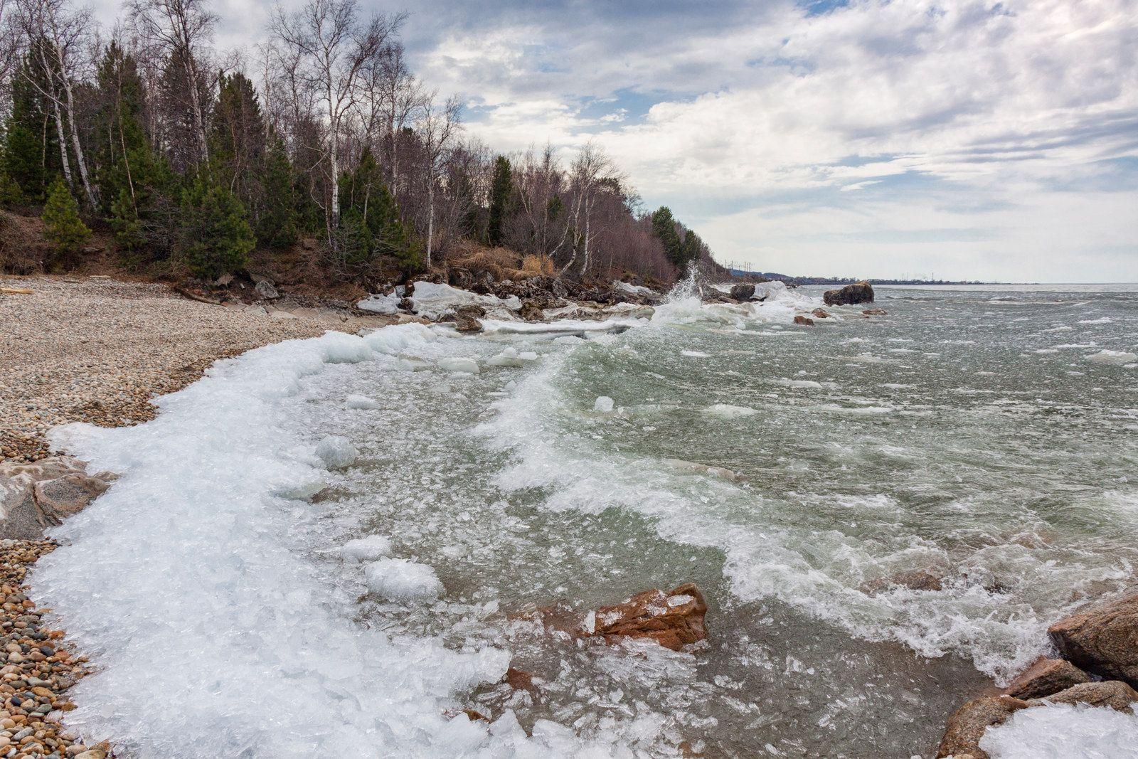 Шуга на Байкале Байкал красота Россия Бурятия экология весна