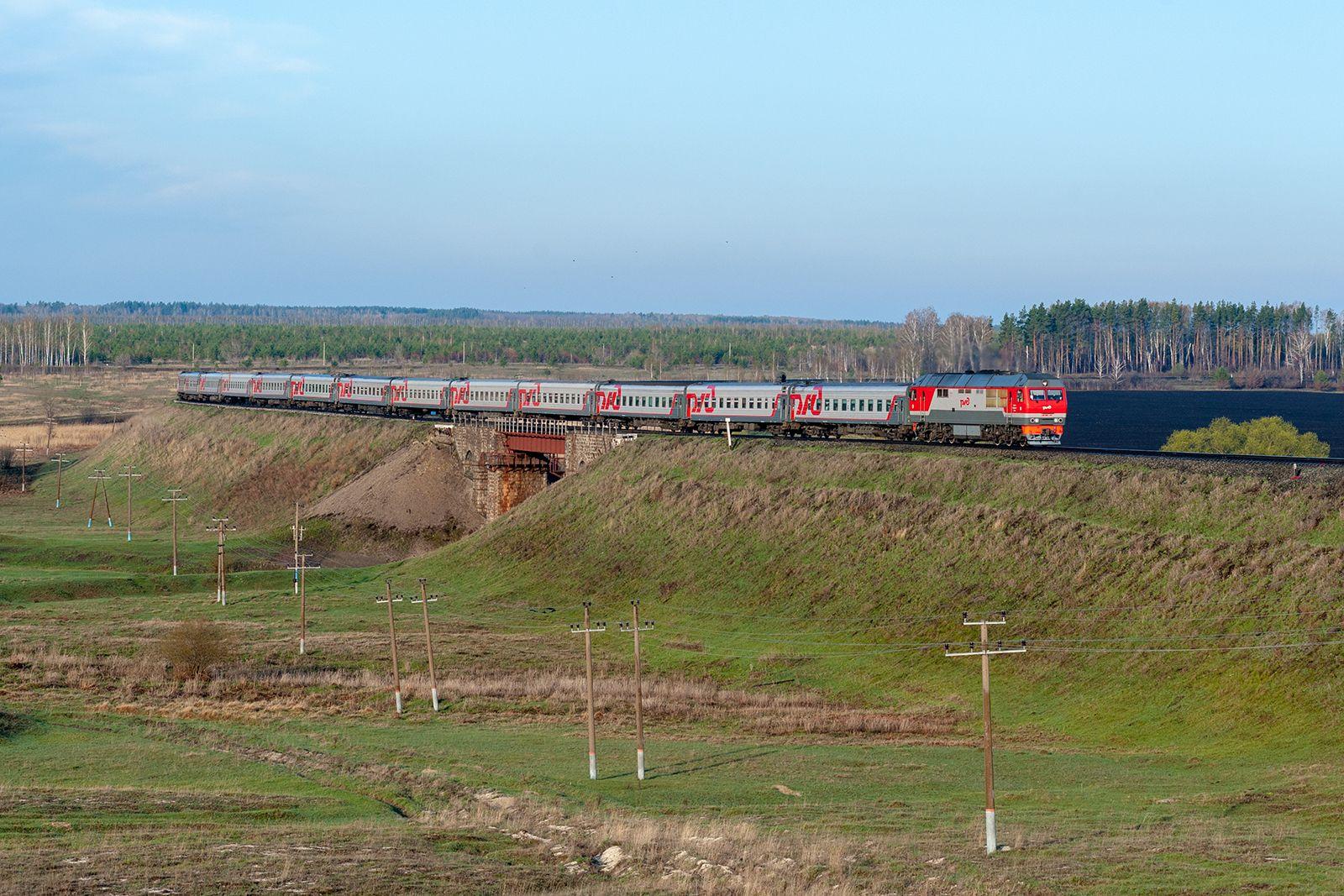 Тепловоз ТЭП70БС-313 Железная дорога поезд подвижной состав тепловоз Ульяновская область Ульяновск Чуфарово Майна ТЭП70БС