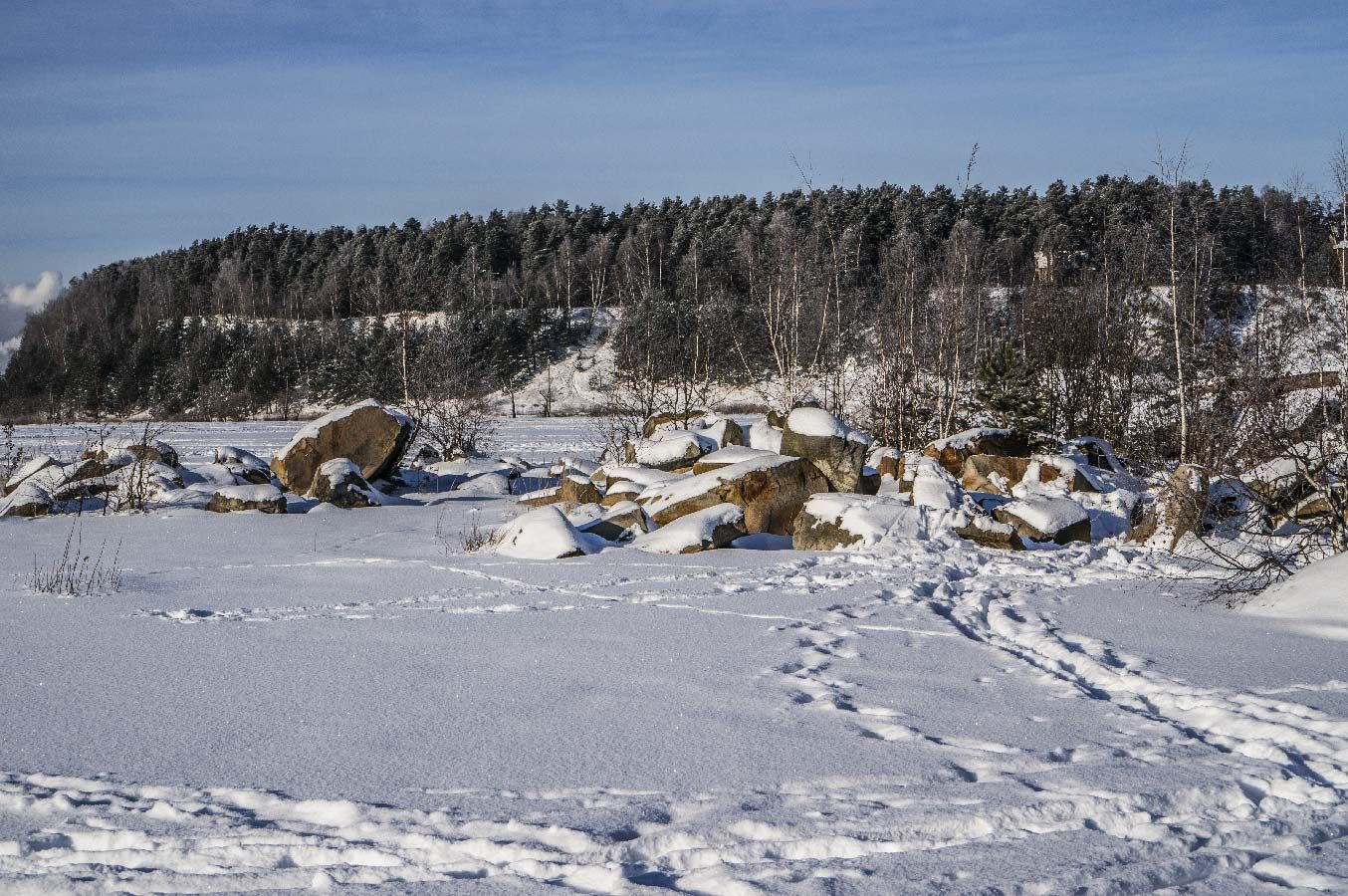 *** Подмосковье остров зима