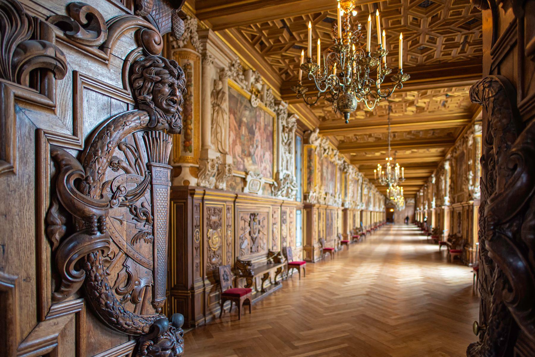 Во дворце Фонтенбло