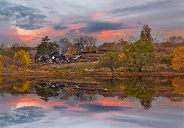 Затеряный уголок живописный закат пейзаж отражение красивые места