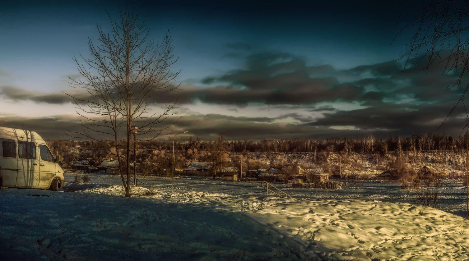 ***Зимним утром.