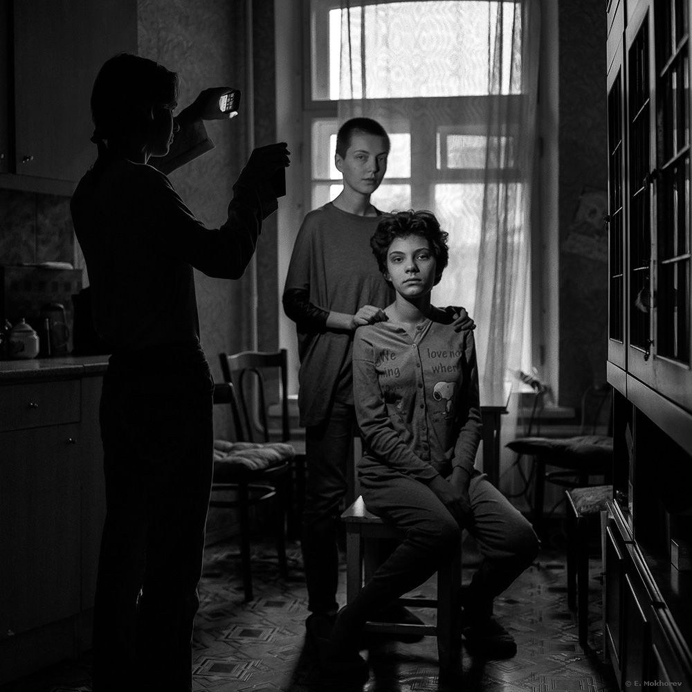 Эля, Катя и Аня. С-Пб., ноябрь 2016. Mokhorev