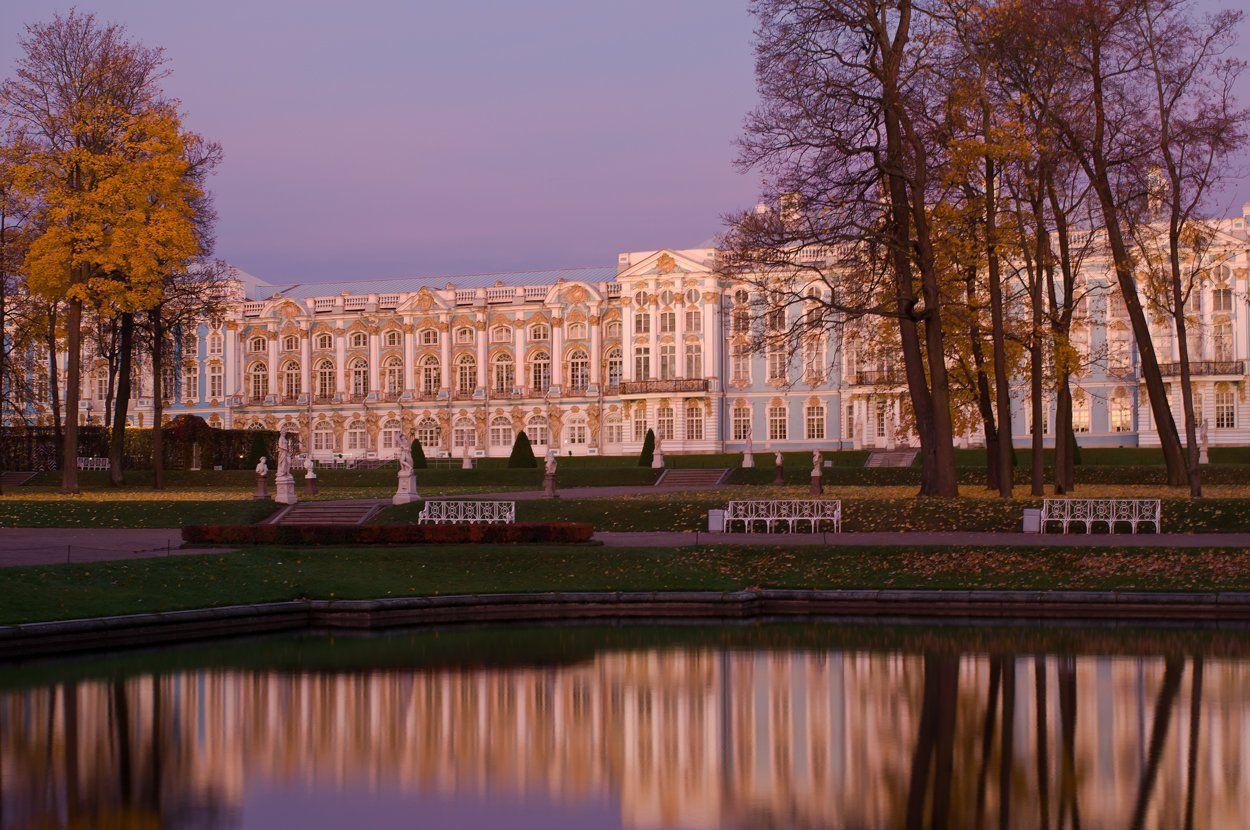 Chilly autumnal dawn session Tsarskoye Selo