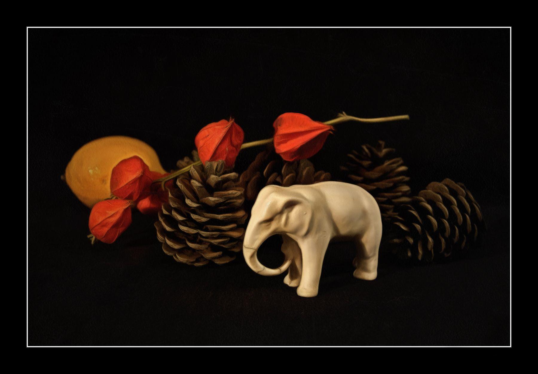Натюрморт со старым слоником натюрморт