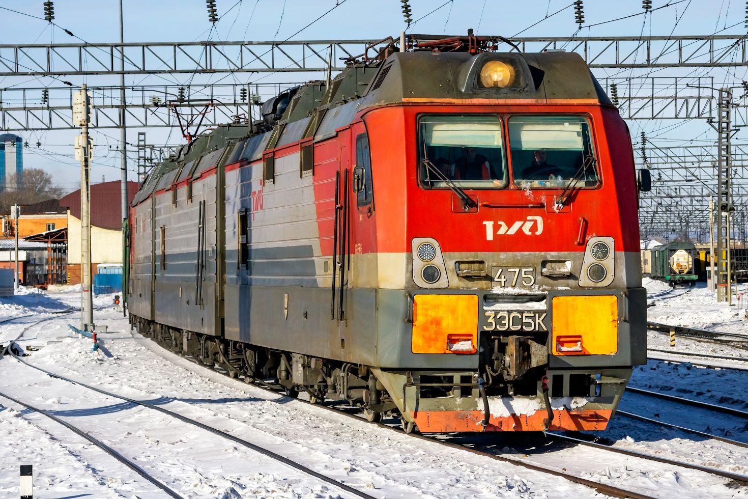 3ЭС5К-475 railway железная дорога locomotive локомотив электровоз поезд train Russia Siberia Irkutsk Россия Сибирь Иркутск споттинг spotting