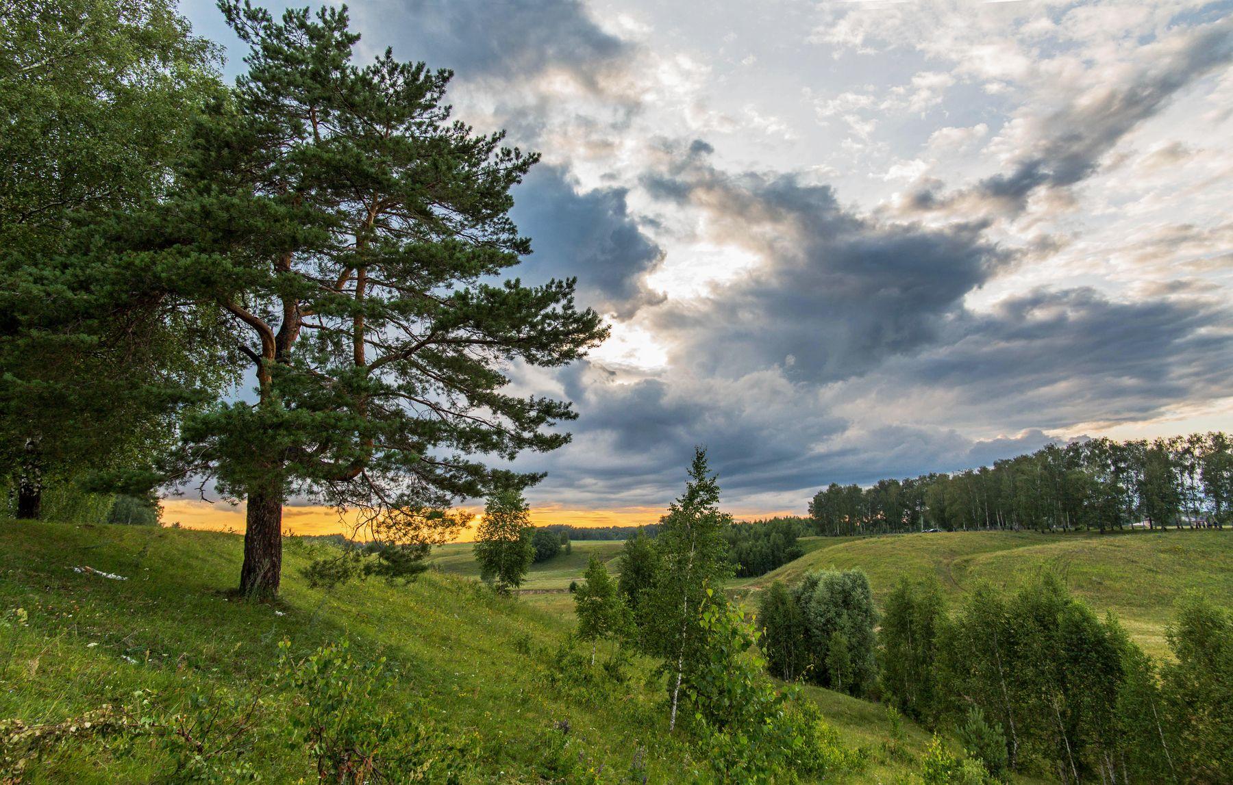 *** природа пейзаж вечер закат туча татарстан новочувашский