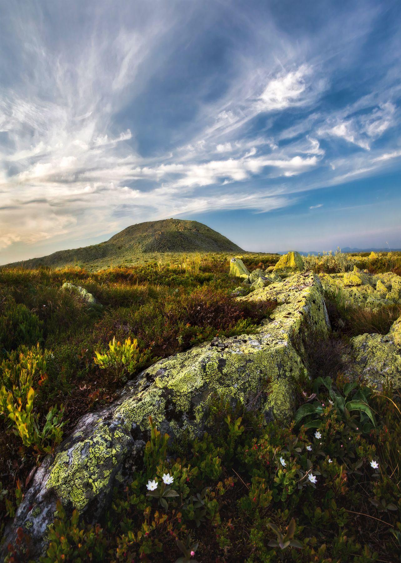 Гора Ослянка, высочайшая точка среднего Урала 1119 м. Ослянка Урал Гора 1119 закат пейзаж