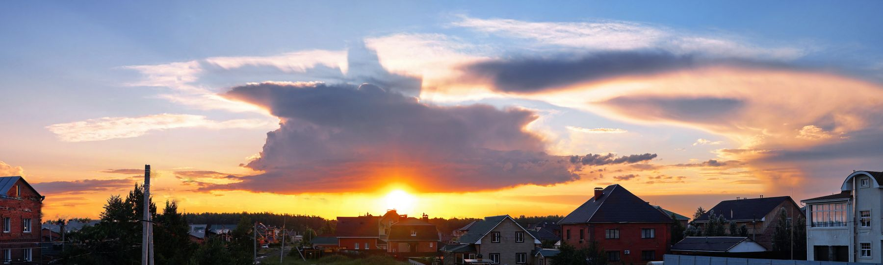 Небесная картина  на даче 12.06.20 омск дача небесное явление грозовой фронт супер-ячейка тень панорама kamlan 50mm F1.1 mark II