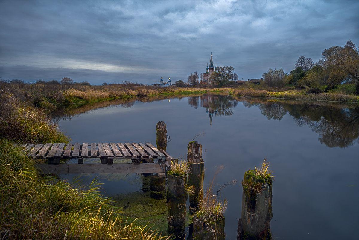На берегах Тезы дунилово теза церковь речка мостки