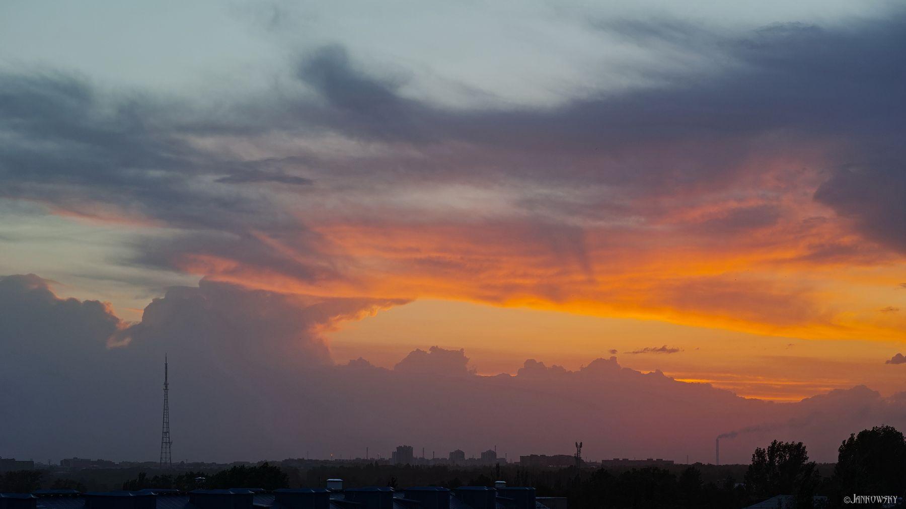 Омск. Небо после жуткого урагана Sigma DP3 Quattro ураган небо облачность омск кучевые