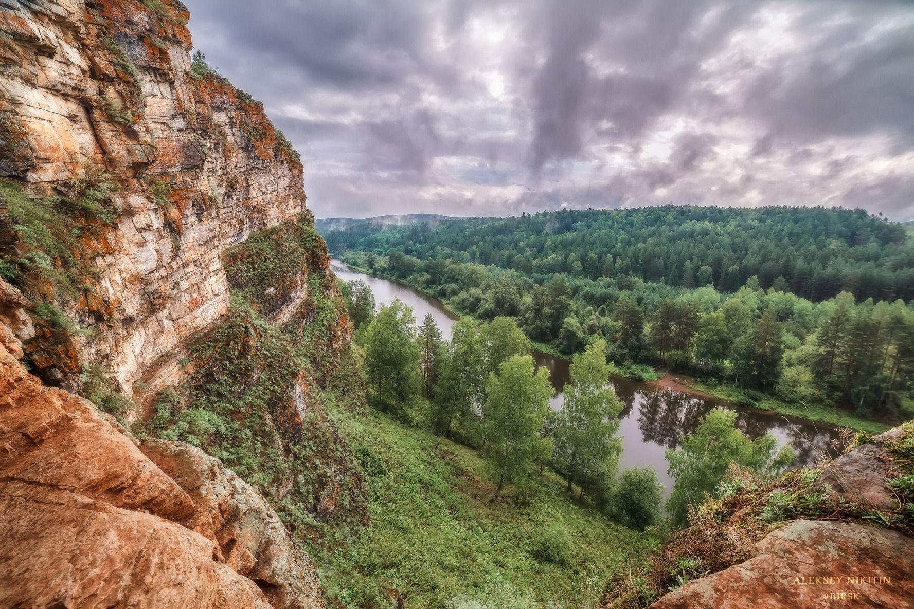 Идрисовские скалы на реке Юрюзань