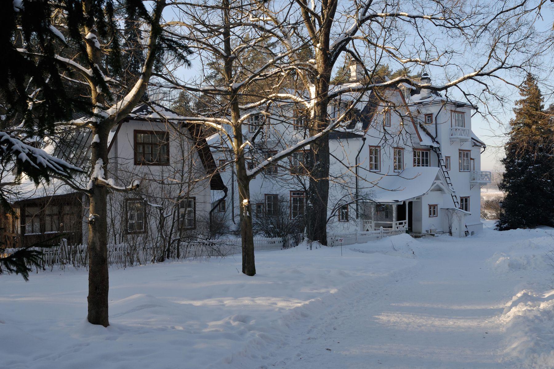Усадьба Поленово зимой Россия Тульская область Поленово усадьба зима