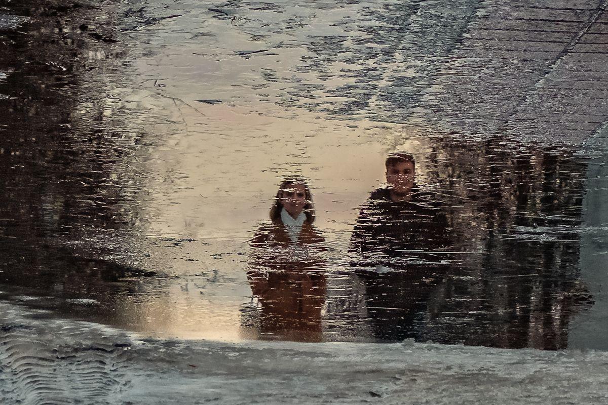 Подморозило лед отражение
