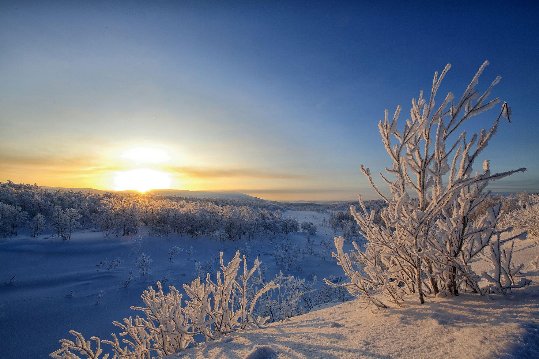 Морозное утро Мурманск