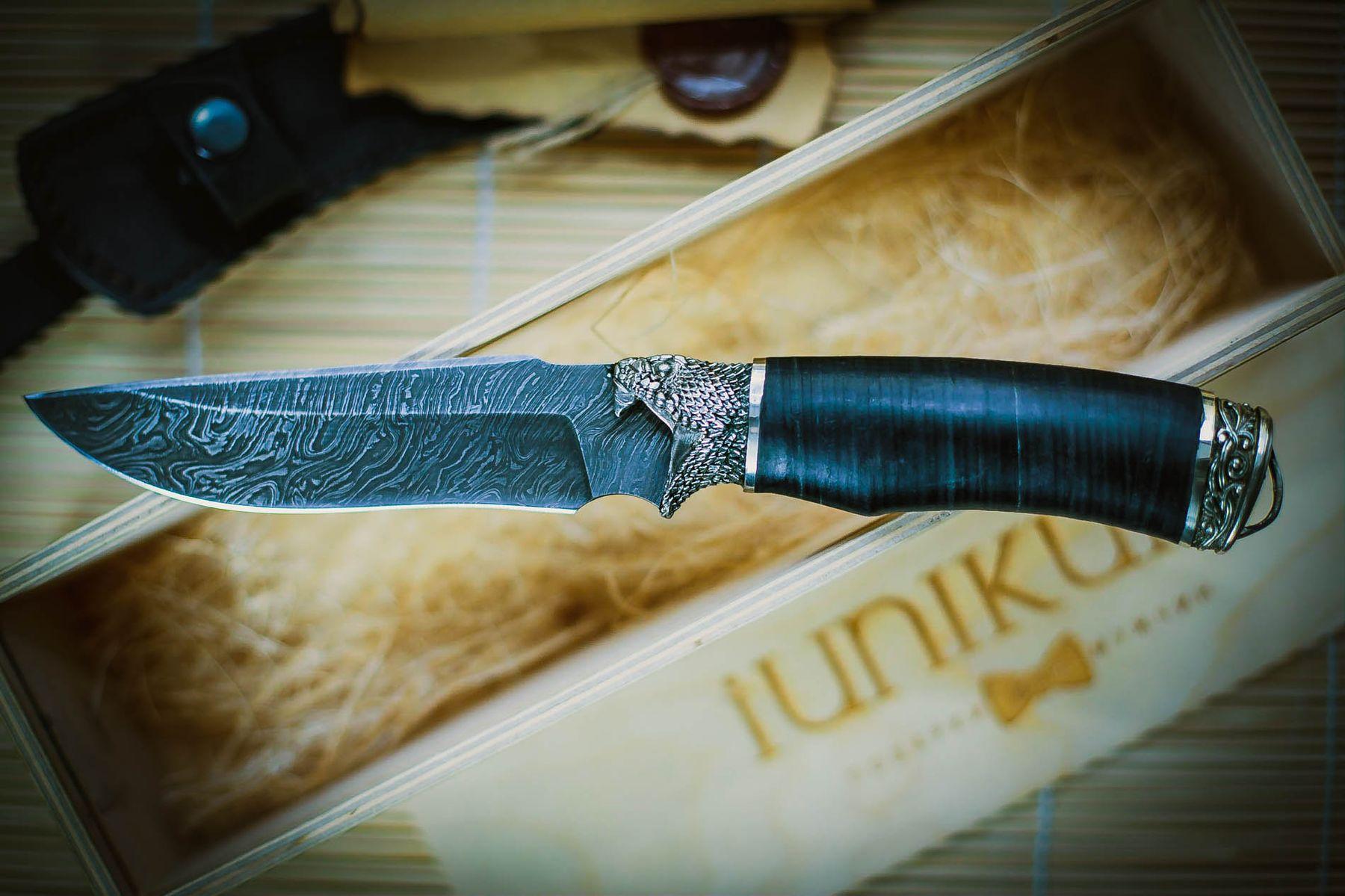"""Нож """"Кобра"""" дамасская сталь каталог нож дамасская сталь подарок"""