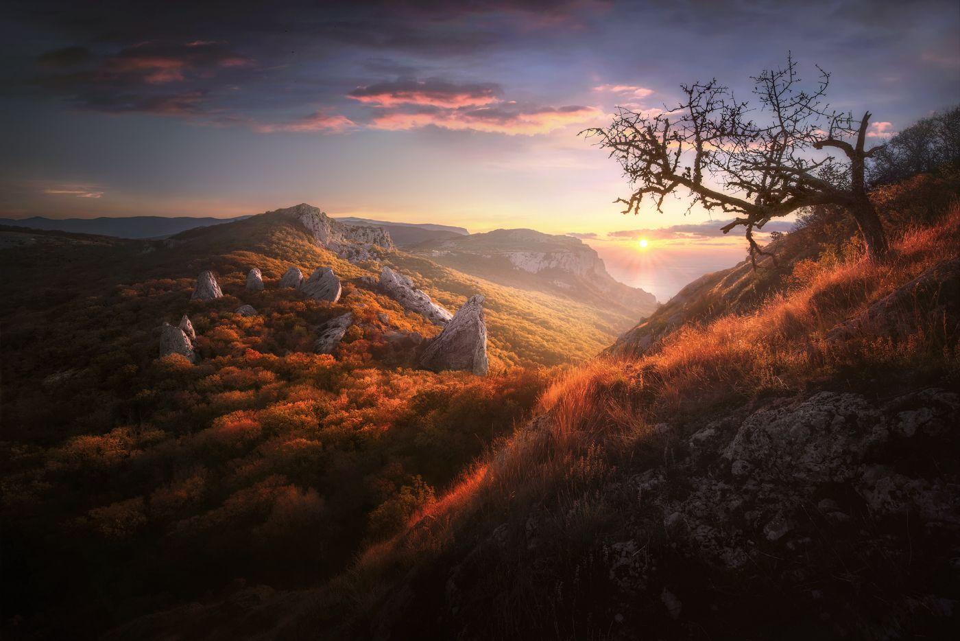 *** рассвет Храм Солнца Ласпи осень Крым