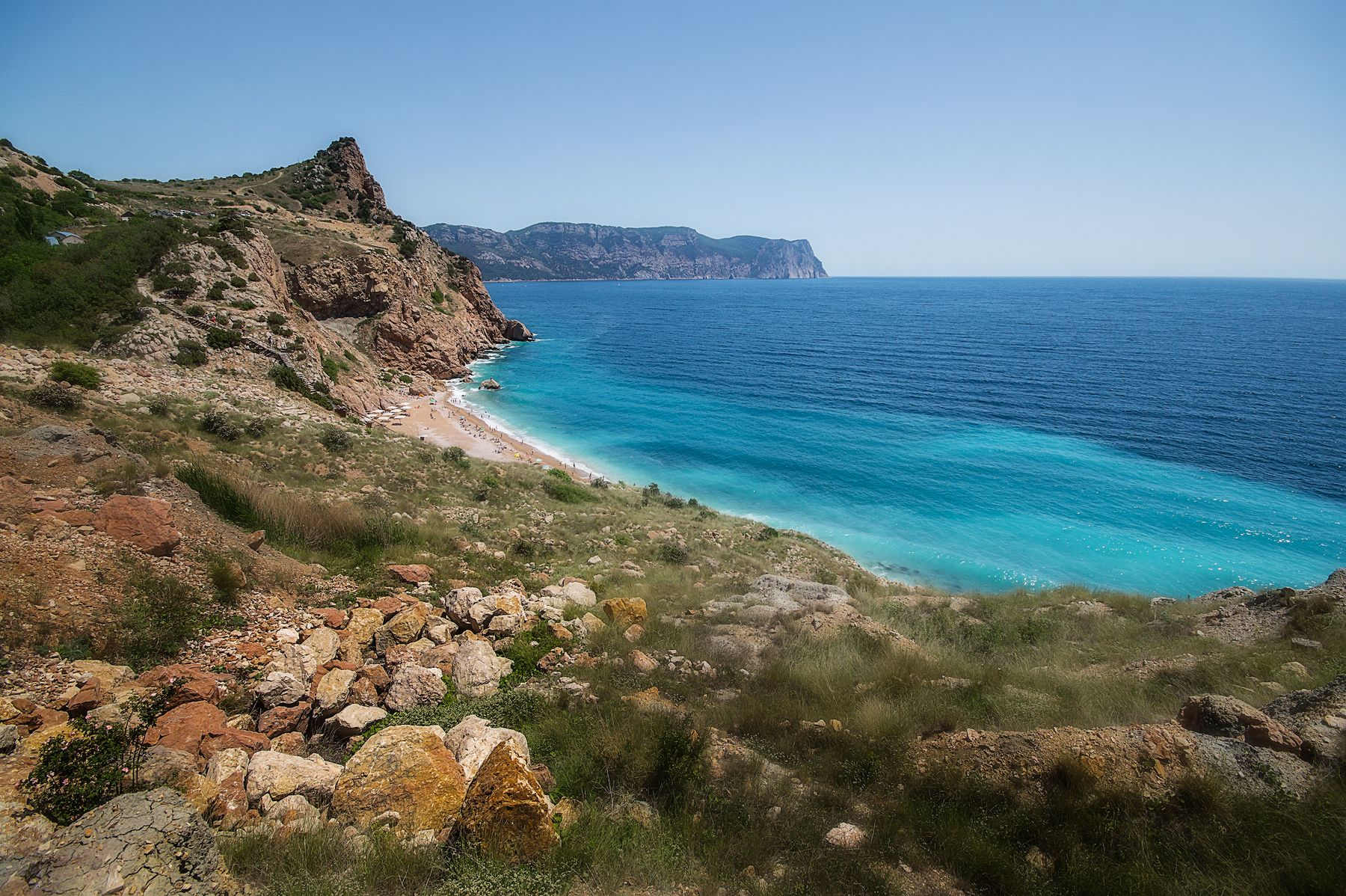 Балаклава, пляж Васили Крым пейзаж море лето