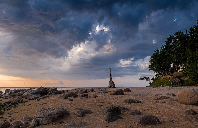 Закат перед грозой Туя Курмрагс закат рижский залив Tuja Kurmrags