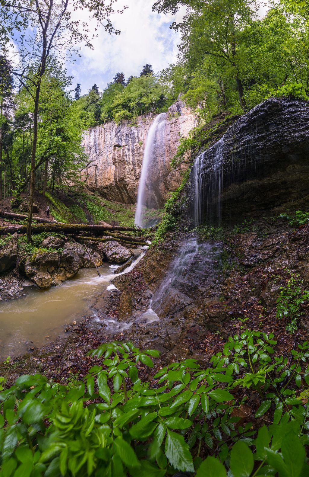 В окрестностях Никитино западный кавказ Никитино ручей капустина водопад май